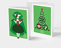 Christmas Cards. For the Year of Goat. Illustration.