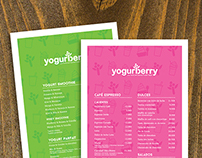 Menu Design | Yogurberry