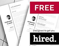 FREE stunning resume template. Meet Edward!