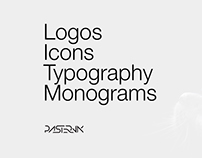 Logos Collection #2. Icons, typography, monograms