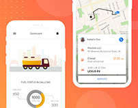 On demand fuel delivery app