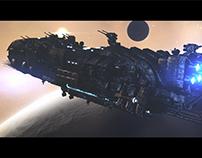 Outside Earth WIP - Scene 05 - Warship