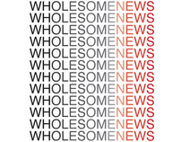 Identity and Poster design for Wholesome News