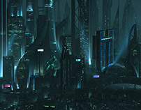 Futuristic LA - Matte Paintings