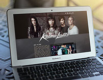 """The Killing Lights"" EPK Web Page Design"