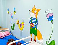Роспись стен в детской больнице