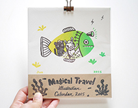 Illustrative Magical Travel Calendar 2015