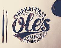 Ole's Salmon Fishing Lodge - logo and development