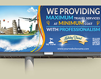 Travel Company Billboard Template