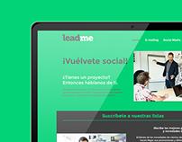 Leadme | Página web