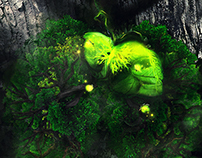 Green Inside - matte painting?
