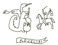 KŪJELIAI poster & bag design