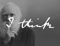 "Charles Darwins ""I think"" vector (ai/psd)"