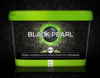BLACK PEARL fertilizer package and brand design.