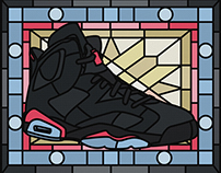 """""""Grail"""" Stained Glass Sneakers"""