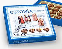 ESTONIA sweets package design.