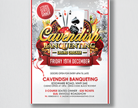 Cavendish Banquenting Poster & Ticket design