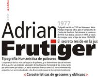Panel Tipográfico - Adrian Frutiger