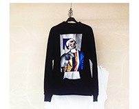 Sweatshirts with handmade collages by Matlashenko