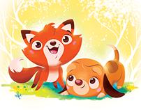 Fox and the Hound - quick illo