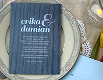 Wedding Invitations (Erika & Damian)