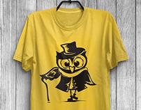 Owls. T-shirt prints.