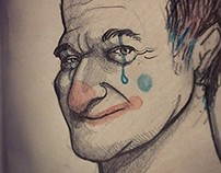 Sad clown - robin williams