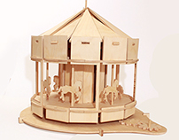 Slotted Wood Carousel