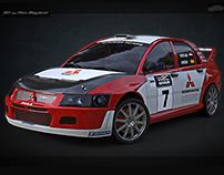 Mitsubishi Evo VIII rally carbon
