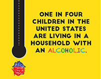 Kids with alcoholic adult _ Poster