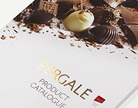PERGALE Product catalogue layout.