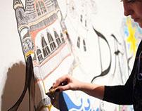 DAKS 120th Anniversary mural - Hong Kong 2014