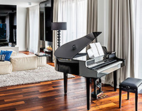 Private apartment shaped by music