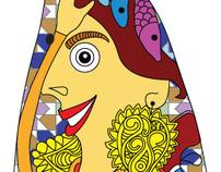"""Illustration for a competition """"Festas de Lisboa """""""