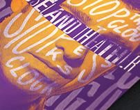 Noel Gallagher Silkscreen Type Poster