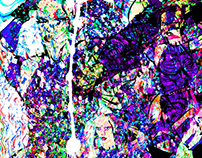 psylocke abstract collage