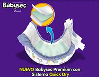 Lanzamiento, nuevos pañales Babysec Premium