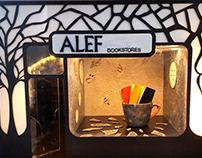 Window display Maquette ( Alef - book stores )