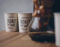 "Branding for roastery-coffee shop ""Roast'n'roll"""