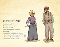 Animation concept art & character sheets