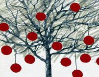 """""""Singing Trees"""" instalation. Merchandizing."""