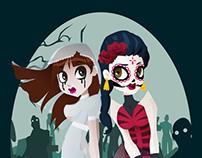Llorona y Catrina vs zombies