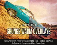 Grunge Warm Photo Overlay Textures