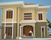 Arsitektur klasik simple di royal ketintang surabaya