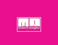 Logo and flyer design for modern delights