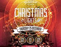 Christmas Lights Flyer Template
