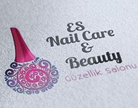 Es Nail & Beauty Logo - Flyer Design