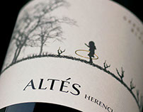 Herencia Altés label design