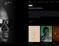 Maurice Kirya website - Personal Project