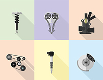 Automobile Parts - Illustration